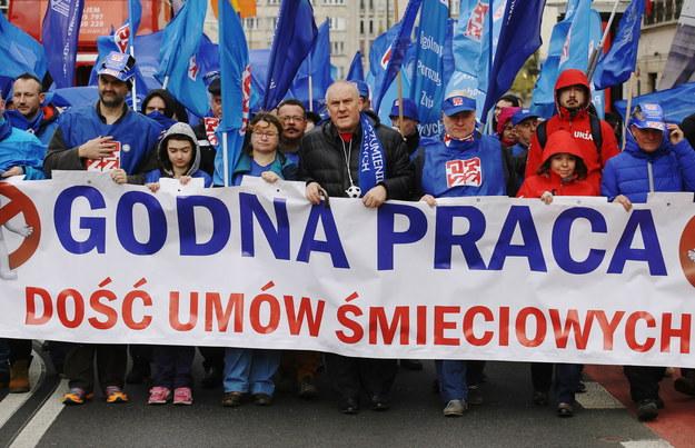 Manifestacje OPZZ w stolicy /Paweł Supernak /PAP
