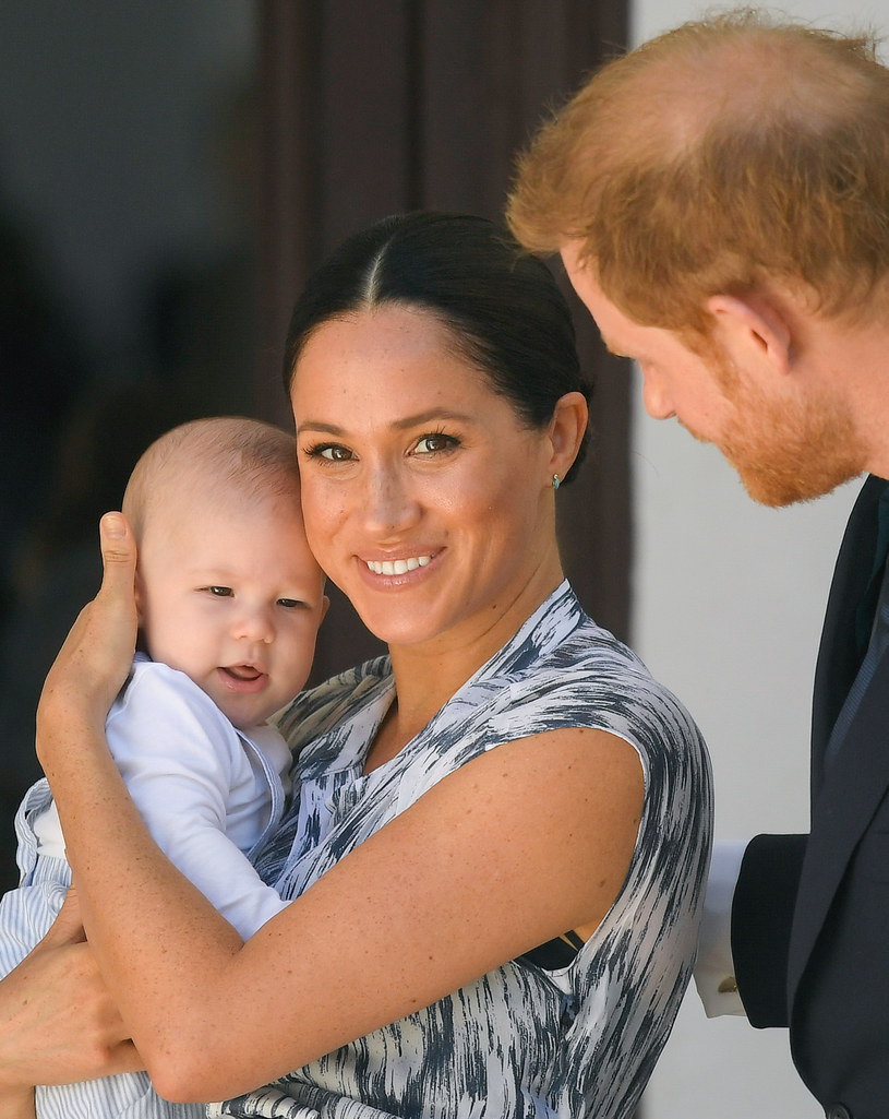 Meghan, Harry and Mały Archie / Pool / Samir Hussein / Getty Images