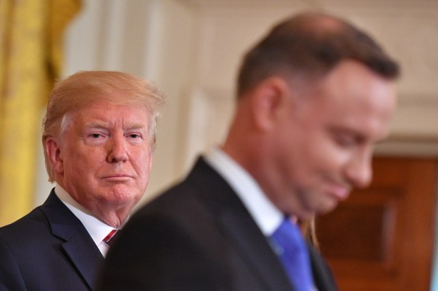Prezydent USA Donald Trump i prezydent Polski Andrzej Duda /MANDEL NGAN / AFP /AFP