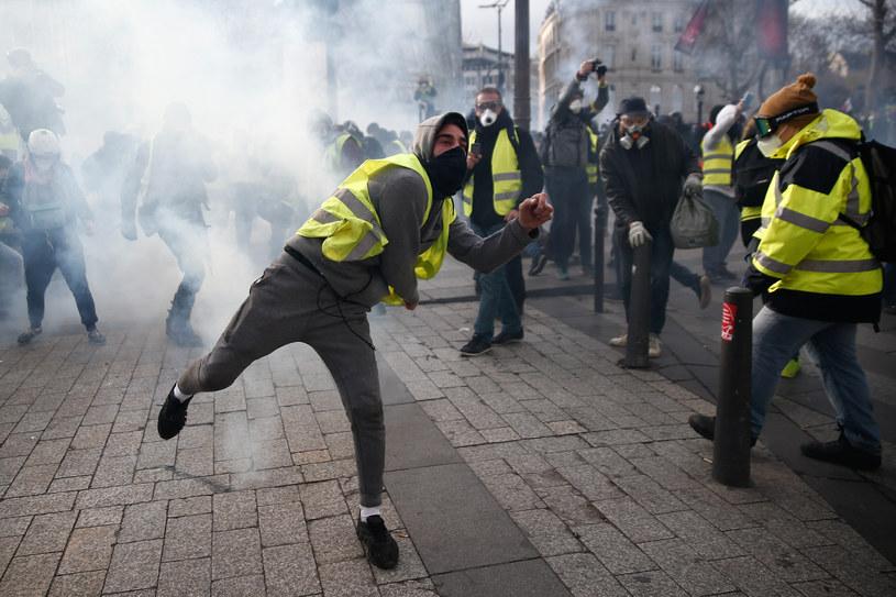 Protestujący we Francji /ABDUL ABEISSA / AFP /AFP