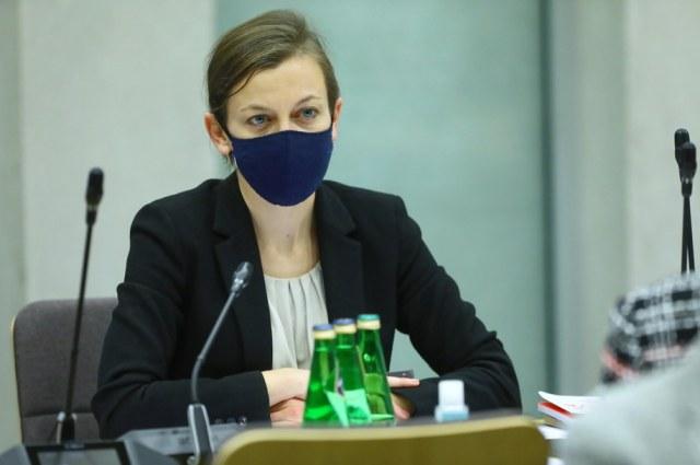 Zuzanna Rudzińska-Bluszcz podczas posiedzenia sejmowej Komisji Sprawiedliwości i Praw Człowieka /Rafał Guz /PAP