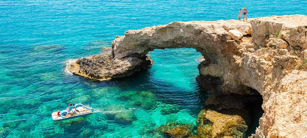 Cyprus cliffs and clear sea