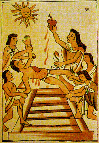 The Mayans sacrificed blood for religious and medical purposes, but little is known that this practice is maintained to this day.  However, modern Mayans no longer sacrifice human blood, but instead take chicken blood instead.