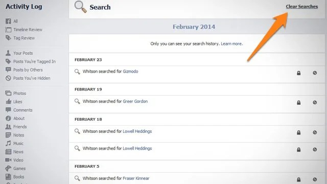 How to View (and Erase) Your Facebook Search History