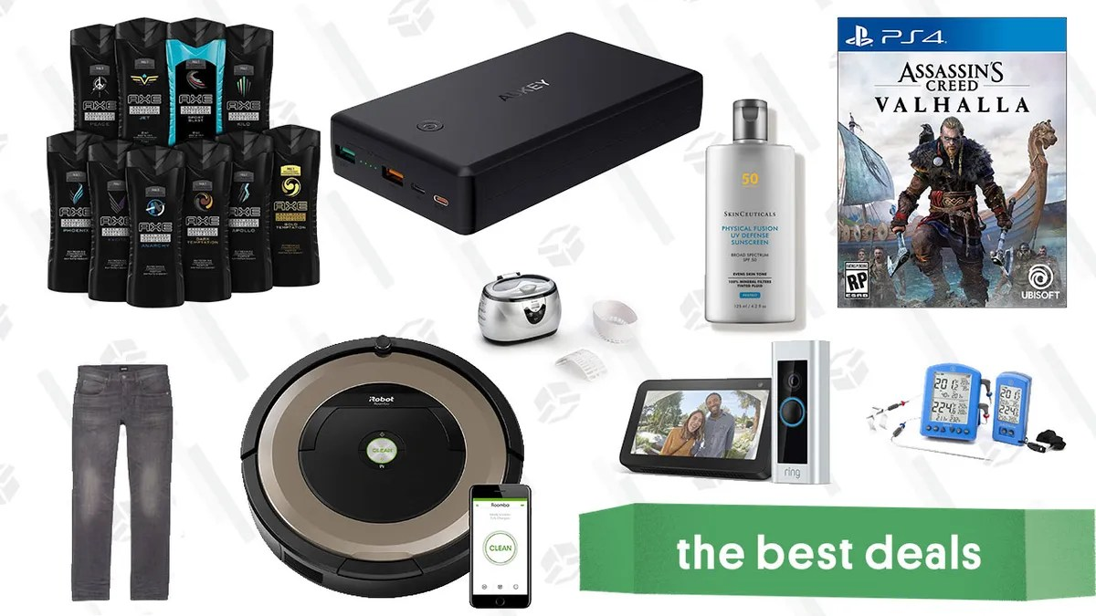 Photo of Monday's best deals: Assasin's Creed Valhalla, Aukey Power Bank, Ax Bodywash, Roomba Gold Box, and more