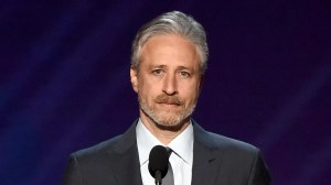 Problem with Jon Stewart who will be performing at Apple this fall