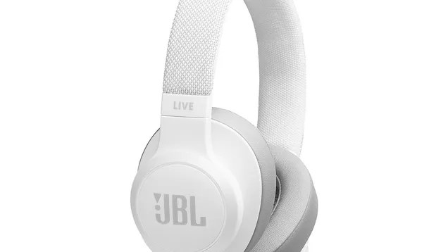 JBL LIVE 500BT Wireless Over-Ear Headphones with Voice Control (White)
