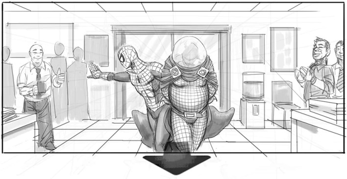 Risultati immagini per spider man 4 storyboard