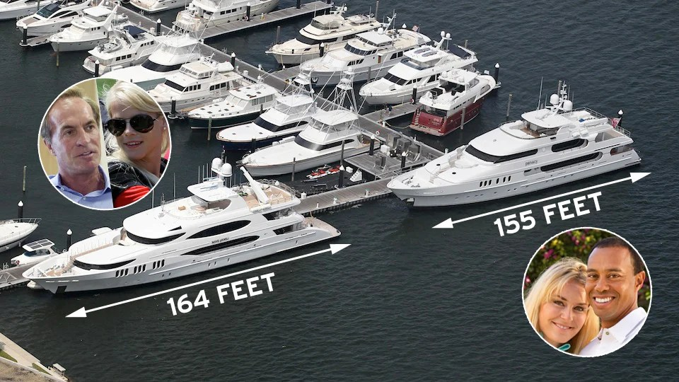 How Awkward Tiger Woods Yacht Is Parked Right Next To