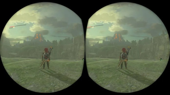 All images in this post are recorded by games running in VR mode. For this, the hardware must render two images, one for each eye, hence the split view.