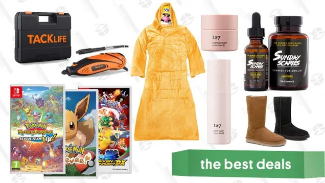 oc98tbfsexr8m9uqyk9t Monday's Best Deals: Pokémon Switch Games, Weighted Snuggie Blanket, 107 Beauty Probiotic Set, Sunday Scaries CBD, Tacklife Rotary Tool, Massage Gun, and More   Gizmodo