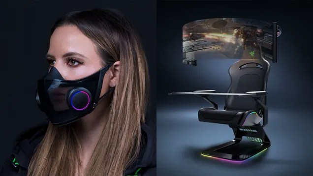 zhwvuhfcvgbufmzjttug Razer's Wild Gaming Chair and Smart Mask Are Concept Gadgets Designed to Battle the Woes of 2021 | Gizmodo