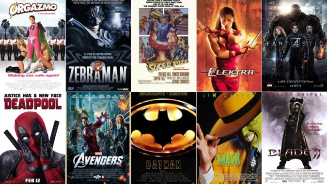 Superhero Movies  Ranked Thus far  2016 is the year of the superhero  Deadpool and Batman v   Superman both shattered the box office  proving that audiences can t get  enough of