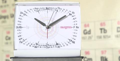 Despertador de la tabla periódica le permite ver los números atómicos de un vistazo