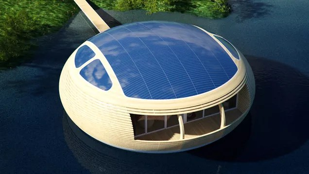 The Solar-Powered, Recycled House That Will Let Us Float in Style