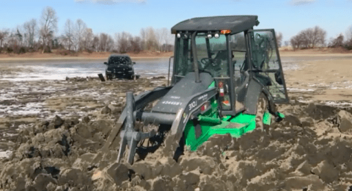 New Truck Frozen In Mud Has Only A Few Months Before It's Under Water