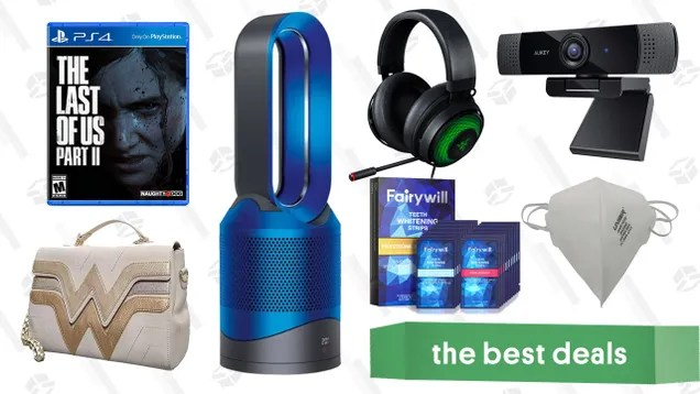 aml0fjk3ciauywetwgu2 Wednesday's Best Deals: The Last of Us Part II, Aukey 1080p Webcam, Dyson Pure Hot + Cold Air Purifier, Teeth Whitening Strips, Wonder Woman Gold Purse, and More | Gizmodo