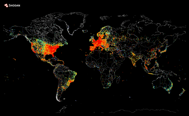 A Map of Every Device in the World That's Connected to the Internet