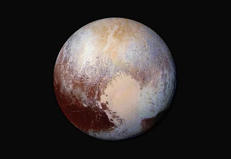 Pluto Looks Dazzling in This New Exaggerated Color Image