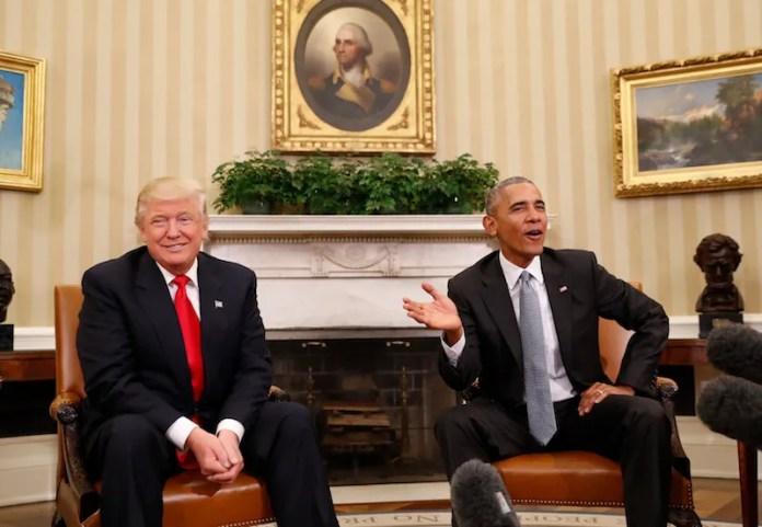 Resultado de imagen para Foto de Donald Trump con Barack Obama