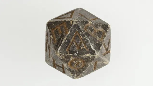 Is this the oldest d20 on Earth?