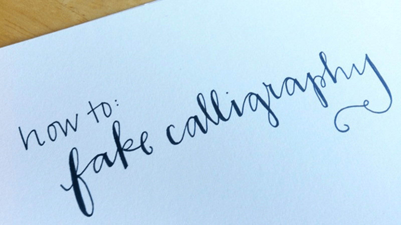 Learn How To Fake Calligraphy