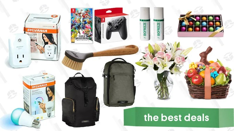 Illustration for article titled Monday's Best Deals: Rakuten Site-Wide Sale, Timbuk2, Humble Monthly, Easter Gold Box, and More
