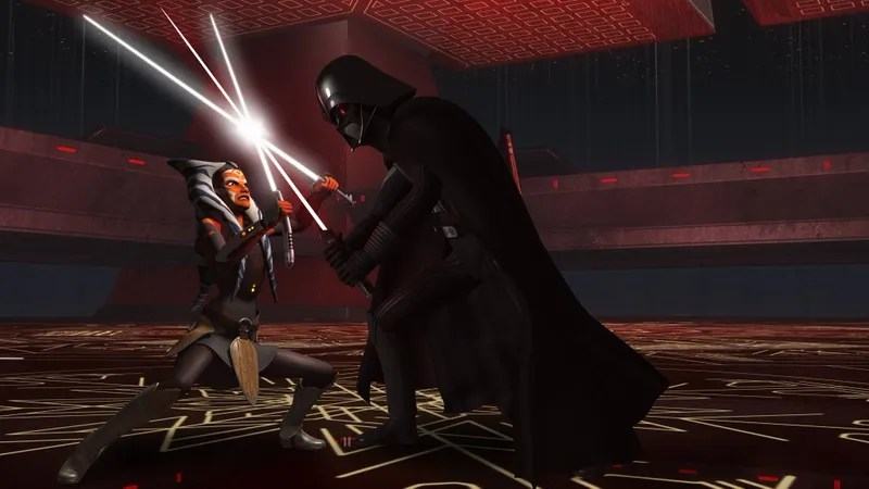 Image result for star wars rebels darth vader vs ahsoka