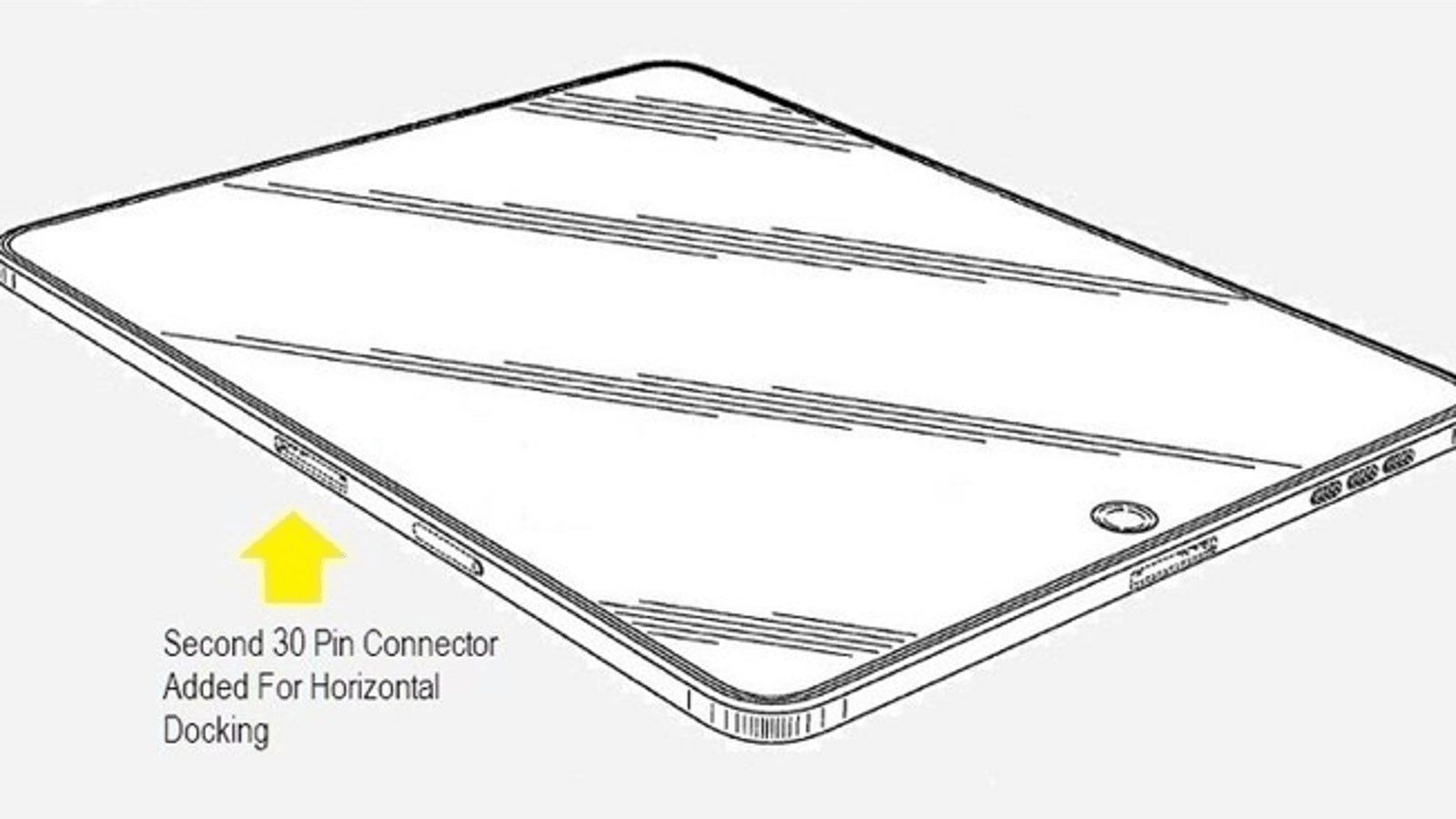 New Ipad Design Could Bring A Landscape Dock Port And