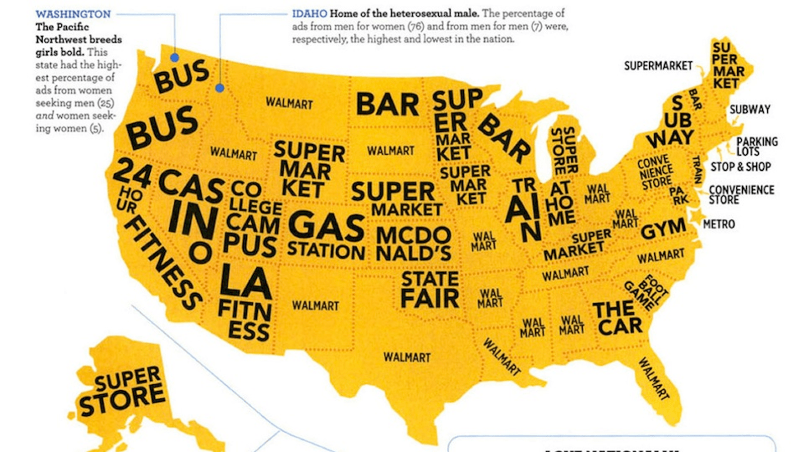 This Map Of The United States Of America Shows Where The