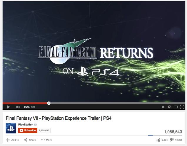 The Internet Reacts To Final Fantasy 7 On PS4 Kotaku UK