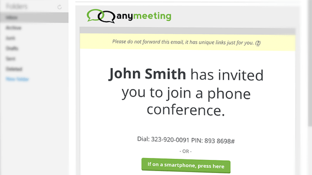 AnyMeeting Sets Up Conference Calls in Minutes with One Email