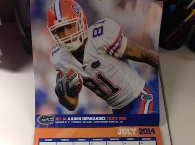 Aaron Hernandez Is In This 2014 Florida Gators Calendar