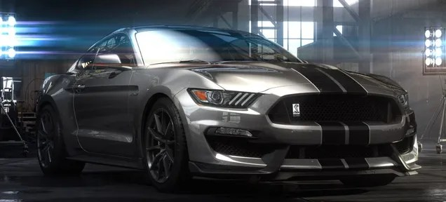 Silver 2015 Shelby GT350 Mustang