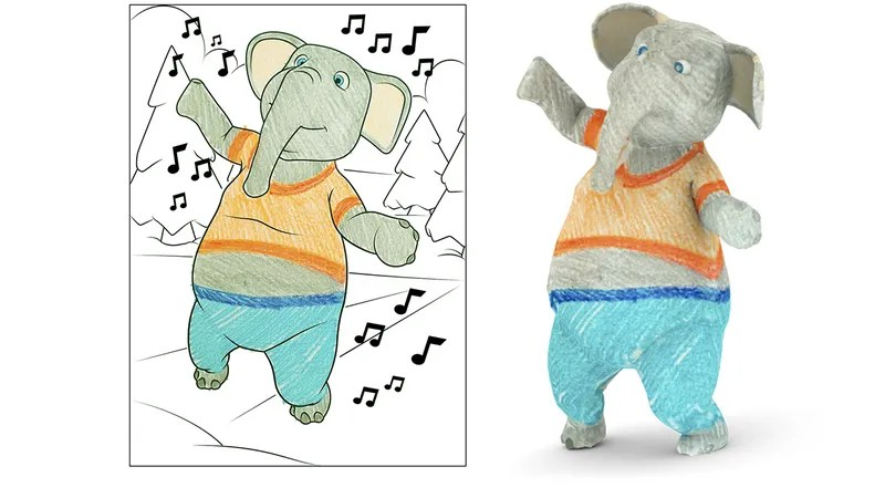 Disney Has Invented 3D Coloring Books