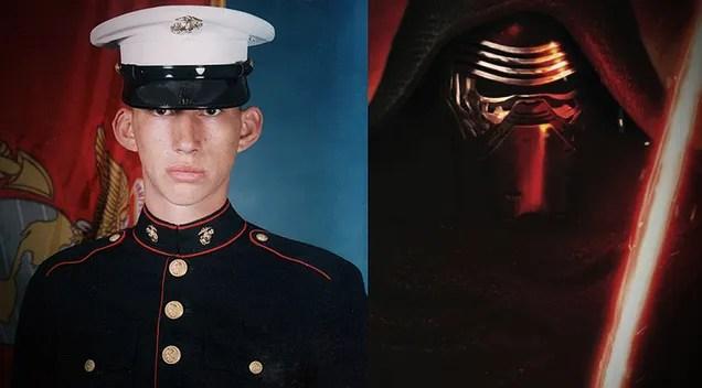 La forza sveglia lattore era un marinaio prima di prendere una spada laser e un Kylo diventante Ren