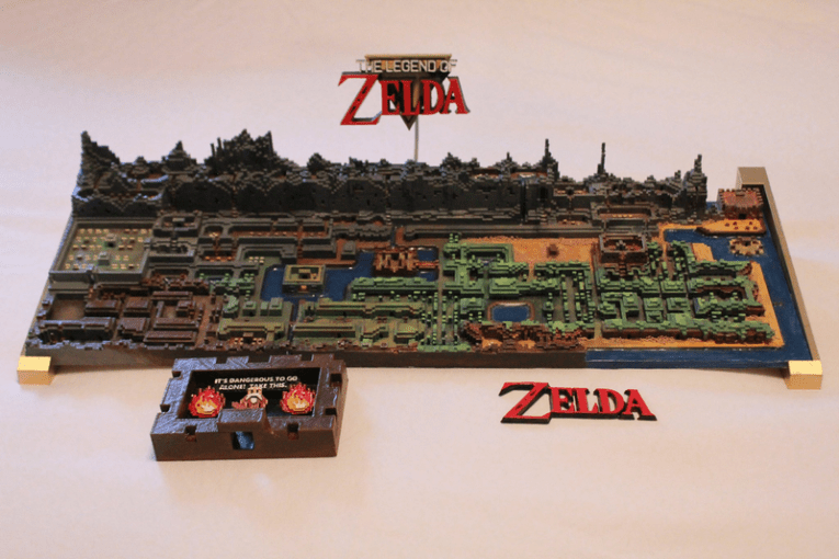 Original The Legend of Zelda Map Gets Printed In 3D The Legend of Zelda on NES had a sprawling world by the standards of 1980s  console games  While decades ago people used to draw their own maps to try  and
