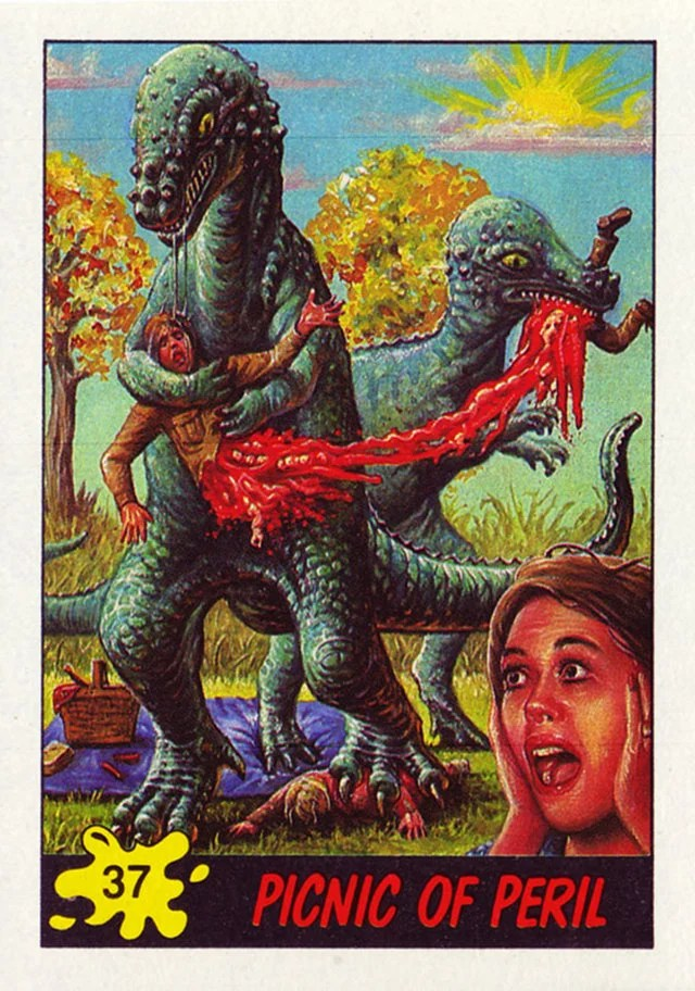 These Terrifying Dinosaurs Attack Trading Cards From The