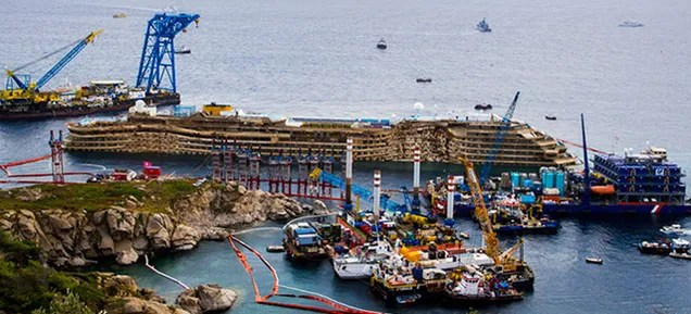 The Crazy Complex Project to Salvage the Costa Concordia Starts Monday