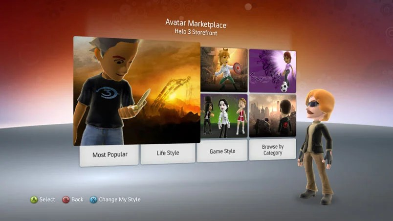 Xbox 360 Avatars Getting New Outfits Props Marketplace