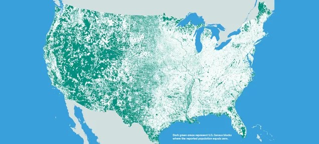 Here's a Map of the 47 Percent of America Where No One Lives