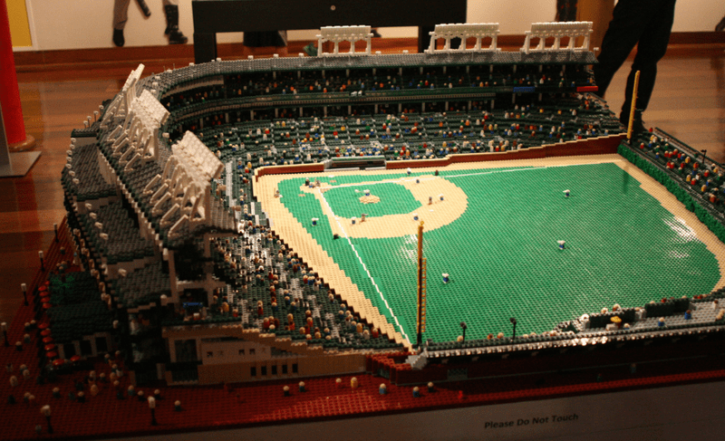 Cubs Fan Creates Amazingly Detailed Model of Wrigley Field Using Lego As the Field of Dreams saying goes   If you build it  they will come   and  sure enough  the  Big Leagues  Little Bricks  exhibit at the Louisville  Slugger