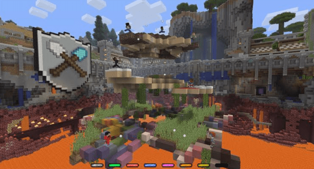 Minecraft s Free Tumble Mini Game Is A Blast Following fast on the heels of Mojang s first console mini game   Battle   is  another competitive arena game mode  but this time with a little bit more  polish