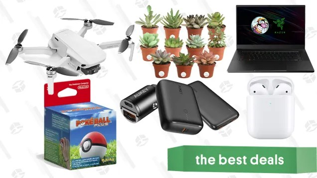 mvtjjqs0utjpecxdvmjd Wednesday's Best Deals: Amazon Prime Day, Apple AirPods, Razer Blade 15, DJI Mavic Mini Drone, Succulents 11-Pack, Aukey Chargers, and More | Gizmodo
