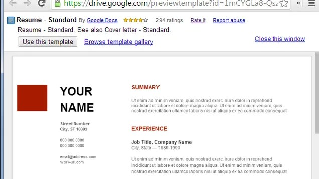 use google docs 39 resume templates for a free good looking resume