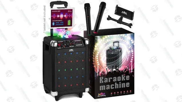 yrilabrxdhcdroa95am3 Sing To Your Heart's Content With This Karaoke Machine Gold Box | Gizmodo