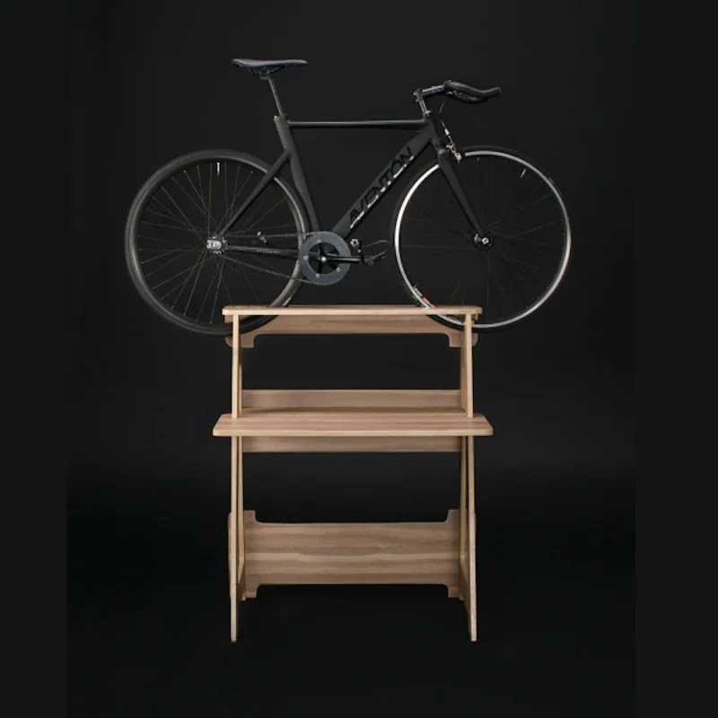 Sleek Furniture Line Puts Your Bike Where It Belongs: On a Pedestal