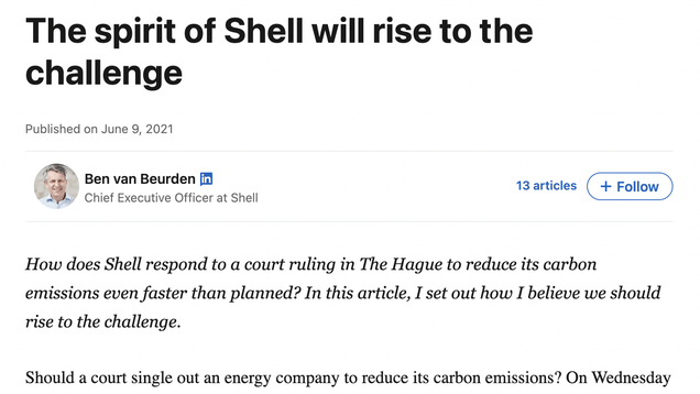 cc3bfe82981701784f5ede1a93177db9 Shell's CEO Pens LinkedIn Blog Blaming You for Climate Change | Gizmodo