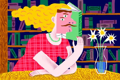 Image result for nom de plume author cartoon