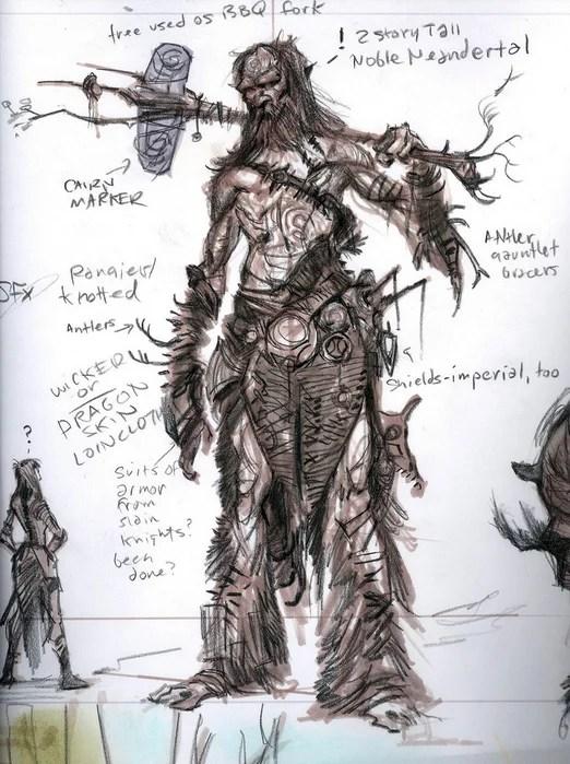 dragon warrior concept art